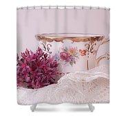 Sedum Flower Still Life Shower Curtain