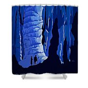 See America, Inside Cave Shower Curtain