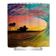 See Thru Wave Shower Curtain
