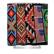 Seed Beading Shower Curtain by Tracy Hall