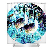 Double Geese In Waterfall Shower Curtain