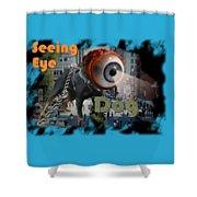 Seeing Eye Dog Shower Curtain