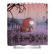 Seeking The Dying Light Of Wisdom Shower Curtain
