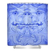 Seer-synthesis Self Portrait Shower Curtain