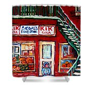 Segal's Market St.lawrence Boulevard Montreal Shower Curtain