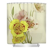 Sego Lily   Calochortus Shower Curtain