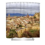 Segovia Cathedral View Shower Curtain