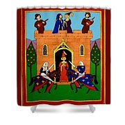 Seige Of The Castle Of Love Shower Curtain