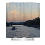 Seine At Sunset Shower Curtain