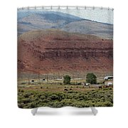 Seismic Scene Shower Curtain