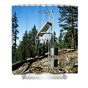 Seismological Station Shower Curtain