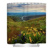 Selah Spring Sunset Shower Curtain