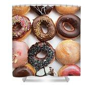 Selection Of Doughnut Shower Curtain