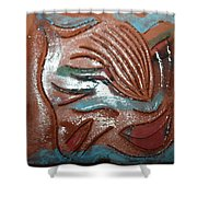 Selene -tile Shower Curtain