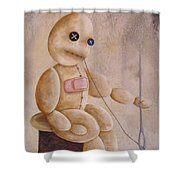 Self Infliction Shower Curtain
