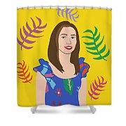 Self Portait Shower Curtain