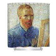 Self Portrait As An Artist Shower Curtain