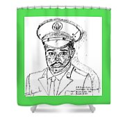 Self Portrait As Soldier Shower Curtain