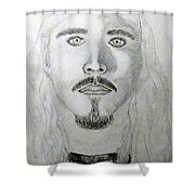 Self-portrait Drawing Shower Curtain
