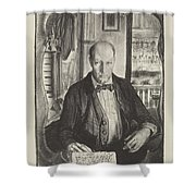 Self-portrait, First State By George Bellows 1882-1925 Shower Curtain