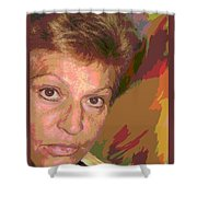 self portrait IV Shower Curtain