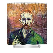 Self Portrait Shower Curtain by John  Nolan