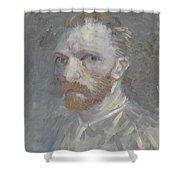Self-portrait Paris, July   August 1887 Vincent Van Gogh 1853  1890 Shower Curtain