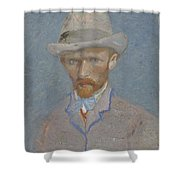 Self-portrait Paris  Summer 1887 Vincent Van Gogh 1853  1890 Shower Curtain