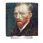 Self Portrait Vincent Van Gogh Shower Curtain