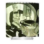 Self Portrait With Still Life Shower Curtain