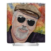 Self Portrait With Sunglasses Shower Curtain