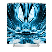 Self Reflection - Blue Shower Curtain