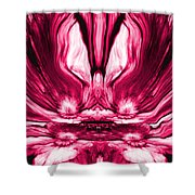 Self Reflection - Pink Shower Curtain