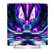 Self Reflection - Purple Blue Shower Curtain