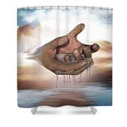 Self-replenishing Nature Shower Curtain