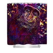 Selfie Monkey Self Portrait  Shower Curtain