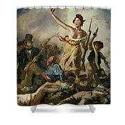 Selfie, Stupidity Leading The People Shower Curtain