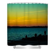 Selfie Sunset Shower Curtain