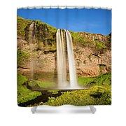 Seljalandsfoss In Iceland Shower Curtain