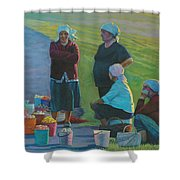 Sellers Of Apples Shower Curtain