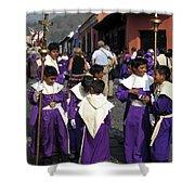 Semana Santa Procession II Shower Curtain by Kurt Van Wagner
