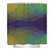 Semi Circle Background Horizontal Shower Curtain