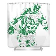 Semi Ojeleye Boston Celtics Pixel Art 2 Shower Curtain