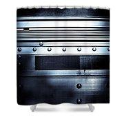 Semi Truck Monocromatico Shower Curtain