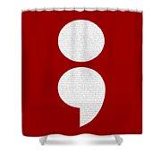 Semicolon 011 Shower Curtain