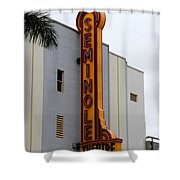 Seminole Theatre 1940 Shower Curtain by David Lee Thompson