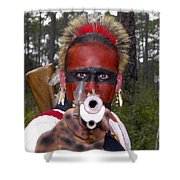 Seminole Warrior Shower Curtain