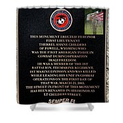 Semper Fi To The 1st Man Down In Iraqi Freedom Plaque Shower Curtain