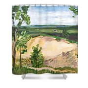 Send Dunes With A Farm House Shower Curtain
