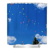 Sending Love Notes To Heaven Shower Curtain